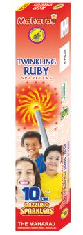 10cm Twinkling Ruby Sparklers