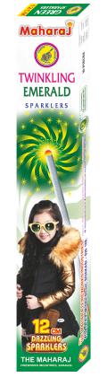 12cm Twinkling Emerald Sparklers
