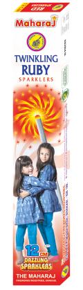 12cm Twinkling Ruby Sparklers