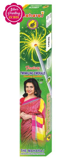 12cm Twinkling Emerald Fantasy Sparklers