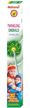 30cm Twinkling Emerald Sparklers
