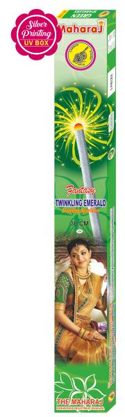 15cm Twinkling Emerald Fantasy Sparklers
