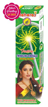 7cm Twinkling Emerald Fantasy Sparklers