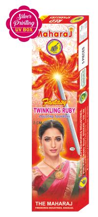 7cm Twinkling Ruby Fantasy Sparklers